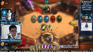 Hearthstone Amaz Playing Ranked and 12 Win Mage Arena (Jul 29 2015)