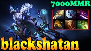 Dota 2 - blackshatan 7000 MMR Plays Drow Ranger Vol 1# - Ranked Match Gameplay!