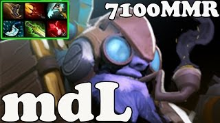 Dota 2 - mdL 7100 MMR Plays Tinker - Ranked Match Gameplay