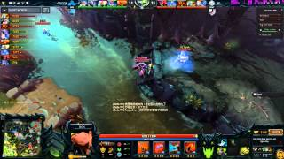 Dota 2: iG's Chuan as Lion stuck in hexed mode