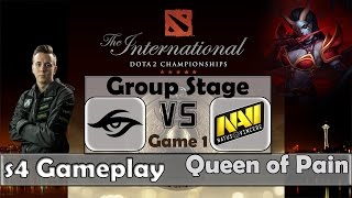 Dota 2 TI5 Groupstage | Secret vs Na'Vi Game 1 | s4 - Queen of Pain Gameplay