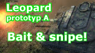 Leopard prototyp A 'Bait & snipe!' (Tier IX German medium) (World of Tanks Xbox)