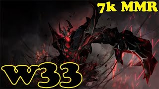 Dota 2 - w33 7k MMR Plays Shadow Fiend - Ranked Match Gameplay