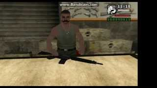 GTA San Andreas ALL weapons at Ammunation