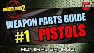 Borderlands 2 Weapons Parts Guide Ep.1 - Pistols