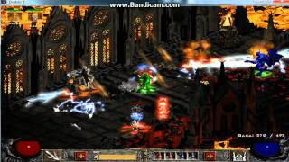Diablo 2 Trap Assassin killing Diablo in Hell difficulty