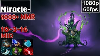 Miracle- (8000+MMR) - Rubick MID Pro Gameplay | Dota 2 MMR Gameplay