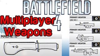 Battlefield 4 - Unlock the Shank, Machete, M412 REX, P90, M249, in BF4 Multiplayer [BF4 Launch]