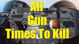 Halo 5  All weapons Times To Kill