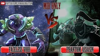 Faceless Void VS Phantom Assasin [Битва героев Mid only] Dota 2