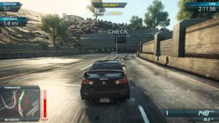 Need For Speed Most Wanted 2012: Mitsubishi Lancer Evo X | Most Wanted List #7 Lexus LF-A