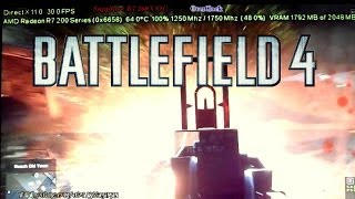 AMD R7 260X | Battlefield 4 | ULTRA PC Gameplay [REAL FPS]