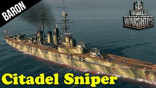 Citadel Sniper!  The Ishizuchi - World of Warships Premium Battleship