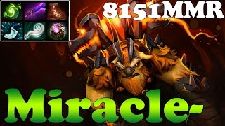 Dota 2 - Miracle- 8151MMR TOP 1 MMR in the World Plays EarthShaker vol 6 - Ranked Match Gameplay