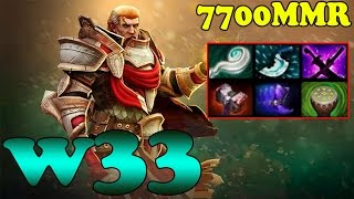 Dota 2 - w33 7700 MMR Plays OmniKnight Vol 1 - Ranked Match Gameplay