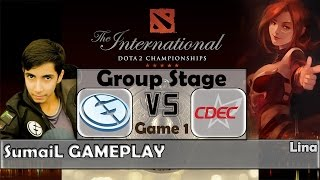 Dota 2 TI5 Groupstage | EG vs CDEC Game 1 | SumaiL - Lina Gameplay