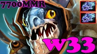 Dota 2 - w33 7700 MMR Plays Slark vol 4# - Ranked Match Gameplay
