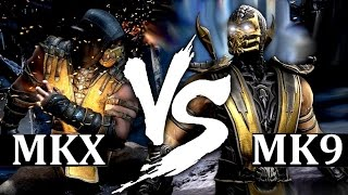 Mortal Kombat X VS. Mortal Kombat 9 Fatalities