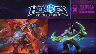Heroes of the Storm (Альфа) - Иллидан в Dragon Shire (HD)
