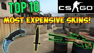 CS GO - Top 10 Most Expensive Skins & Rare Weapons 2015! Counter Strike Rarest Knives & Skins